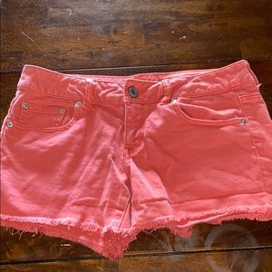 American Eagle Sz 8 Distressed Jean Shorts